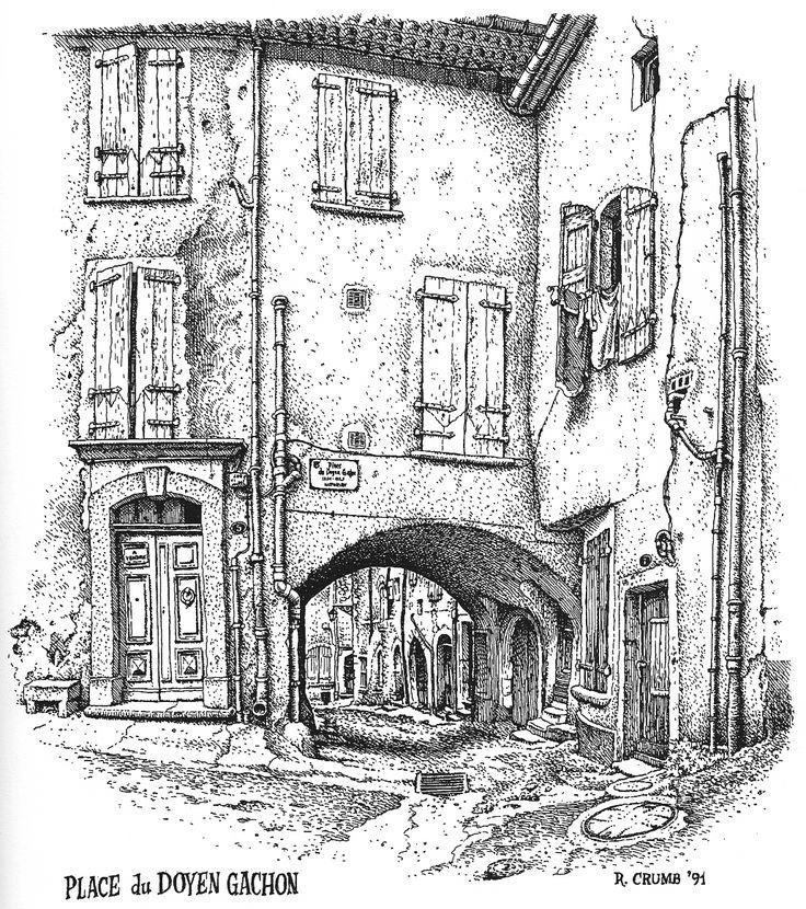 The Visual Exegesis: R. Crumb's Drawings of Buildings