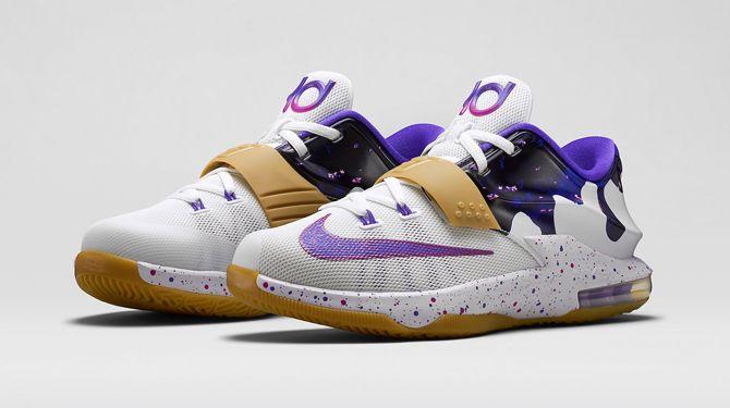 Outlet Nike KD 7 Cave Purple Hyper Grape Magnet Grey Bleached Tu