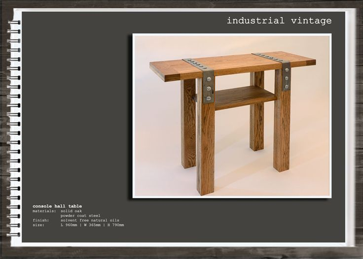 Industrial Vintage: Console Hall Table