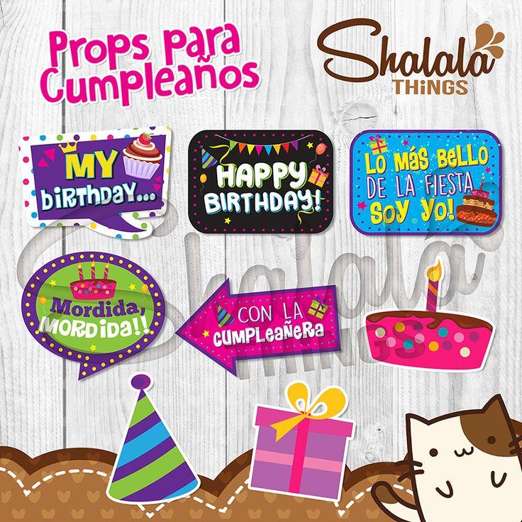 Props para Cumpleaños *Frases y Colores Personalizados ...