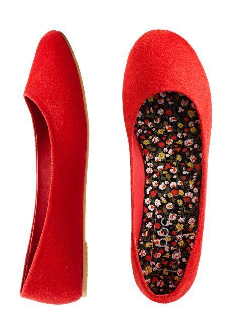 Ballerinasko, bpc bonprix collection, röd