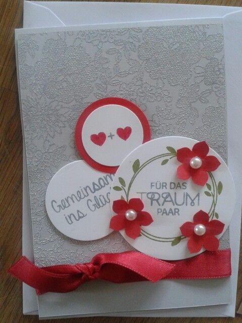 Karte Hochzeit, perfekter Tag stampin up, card Wedding