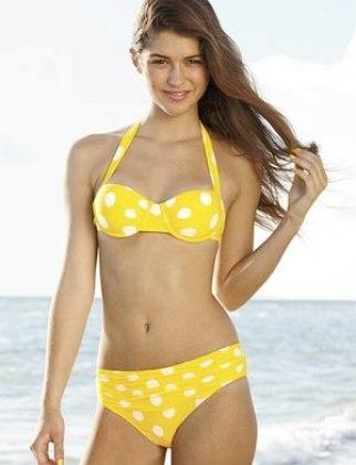 Bikini dot picture polka yellow with you