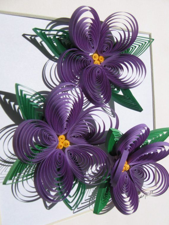 Quilled paper flowers!