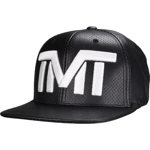 THE MONEY TEAM FLOYD MAYWEATHER DROPHEAD SNAPBACK HAT This is the victory hat from TBE's last professional fight. It is a perforated snapback with satin lining and custom TMT accents on the inside. Designed in the USA and manufactured overseas on premium quality one-size-fits-all synthetic leather snapbacks. (50% polyester / 50% polyurethane)