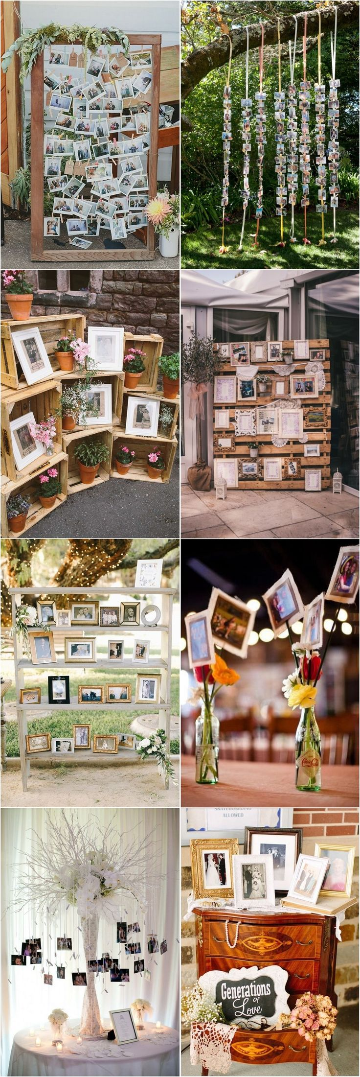 30 Wedding Photo Display Ideas You'll Want To Try Immediately / http://www.deerpearlflowers.com/wedding-photo-display-ideas/