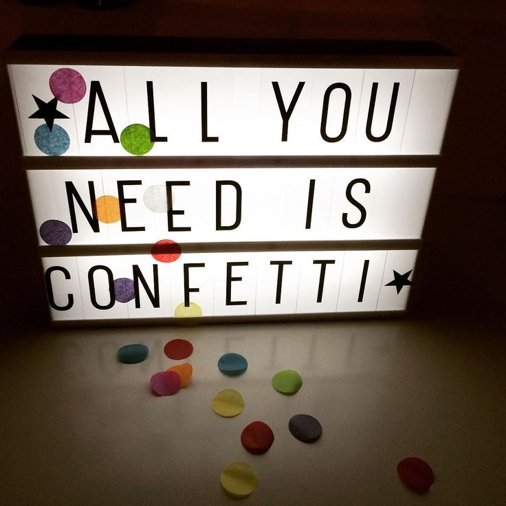 All You Need Is Confetti.