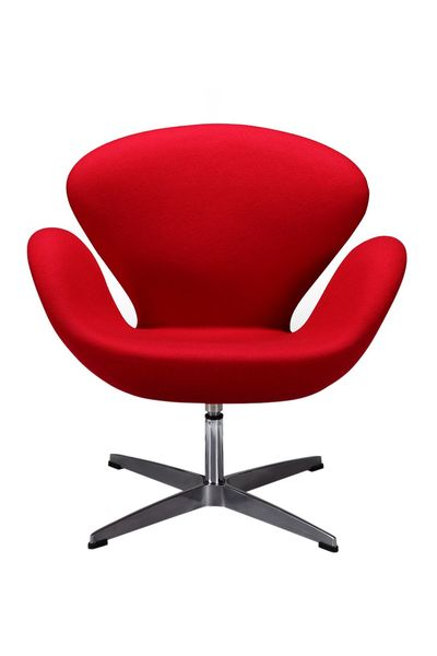 Swan - Arne Jacobsen Replica in Red/Black - Fabric/Vinyl R 5 885.00 delivery excluded