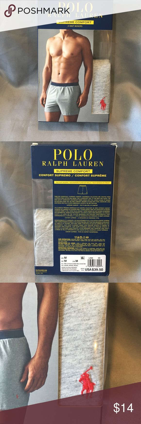 NWT POLO Ralph Lauren 1 Pair Knit Boxers NWT POLO Ralph Lauren 1 Pair Knit Boxers. Supreme comfort. This was a 2 pack that is missing 1 pair. You will only receive 1 pair. Polo by Ralph Lauren Underwear & Socks Boxers