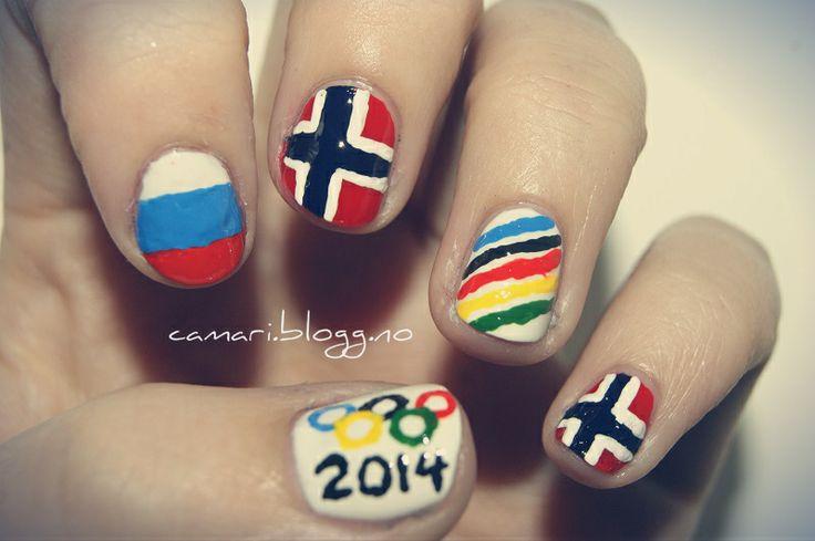 OL nail art by me :) Cassandra Berg #nailart #nails #naildesign #nailpolish #negler #neglelakk #negledesign