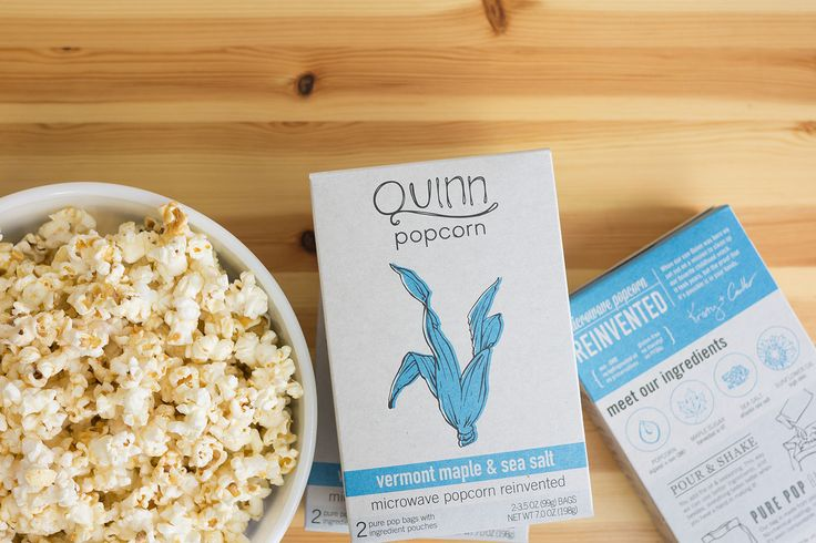 quinn popcorn 'farm to bag'  regular microwave popcorn is so bad for you vons carries this