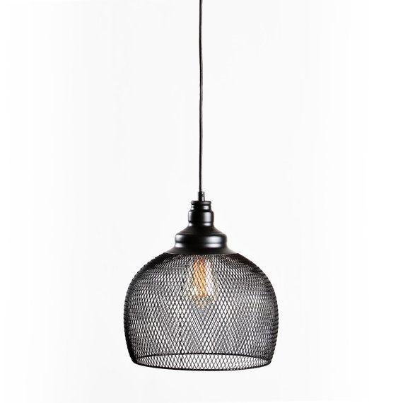 Suspension industriel Vintage maille lumière de pendentif chandelier éclairage cuisine pendentif clair, salle à manger