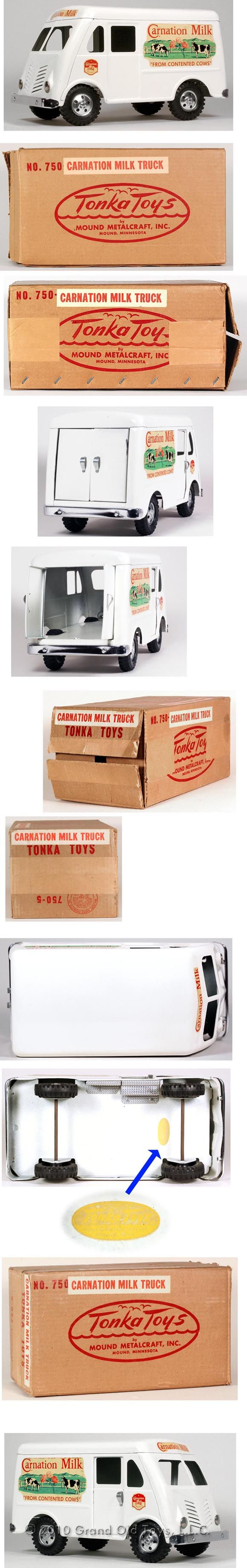 1955 Tonka Carnation Milk Truck In Original Box. 12in long