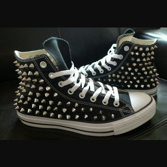 Studded Converse, size 7, Authentic Authentic Converse with all-over studs. Worn twice, clean and in excellent condition. Converse Shoes