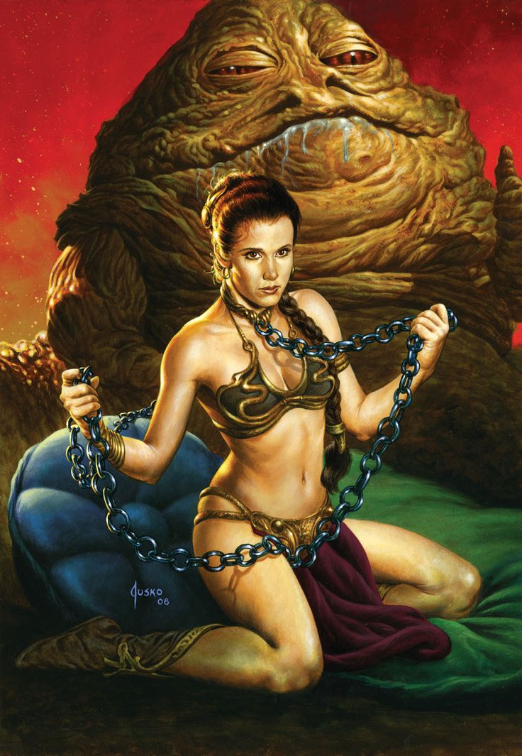 Slave Leia/Jabba the Hut fan art.  #StarWars