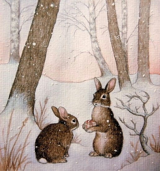 Bunnies - Beatrix Potter - - Picture Colors: Brown, Grey, Pink, White