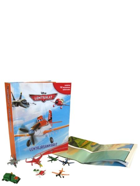 Lentsikat - Lentäjäsankari -kirjan mukana tulee 12 hauskaa leluhahmoa sekä leikkialusta. Nouse lentoon Dustyn, Ripslingerin ja muiden lentokoneiden kanssa! Lue Lentsikat-elokuvasta tuttujen sankareiden tarinat ja järjestä ihan omat kisat leikkimatolla.