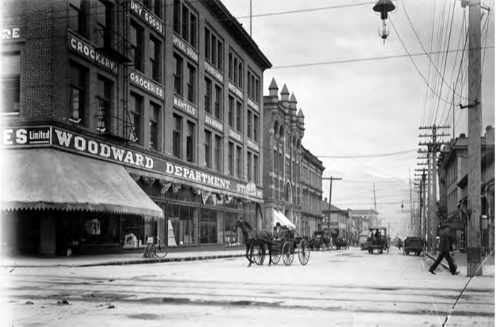 Woodward's Opens on the corner of Hastings and Abbott in 1903