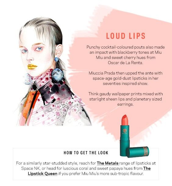 Get the Prada runway make up look!
