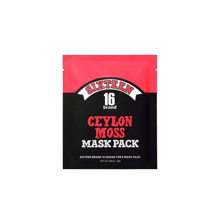 SIXTEEN BRAND 16 Ocean Toks Mask Pack Ceylon Moss Facial Mask Sheet Elasticity