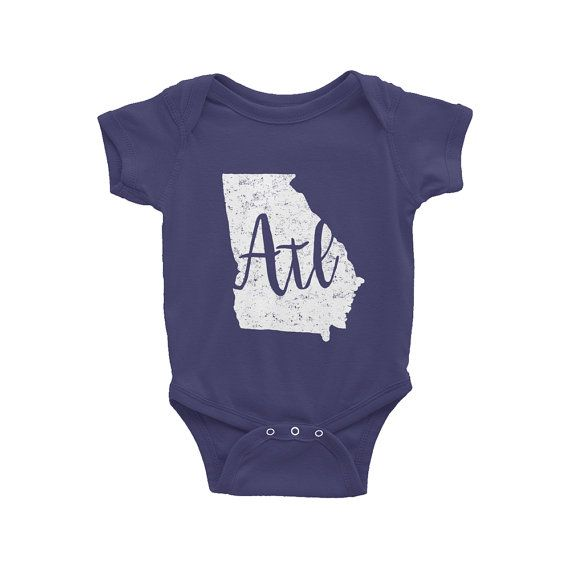 Atlanta Onesie // ATL // Georgia Bodysuit by TheBusyBeeCreations