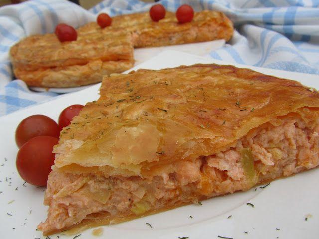 Empanada de salmón y gambas con Thermomix
