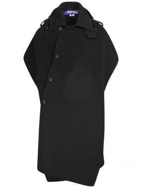 Junya Watanabe MAN for Comme des Garcons Backless Wool Poncho Black