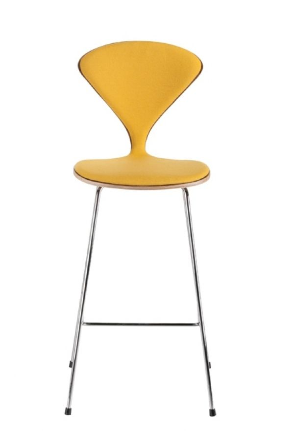 Norman Bar Stool - дизайнерский барный стул с тканевой обивкой.
