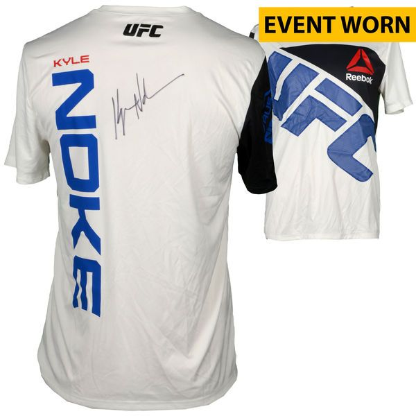 Kyle Noke Ultimate Fighting Championship Fanatics Authentic Autographed UFC 195: Lawler vs. Condit Event-Worn Walkout Jersey - Fought Alex Morono in a Welterweight Bout - $199.99