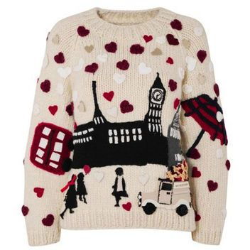 Burberry and Save the Children holiday sweater. So cute!