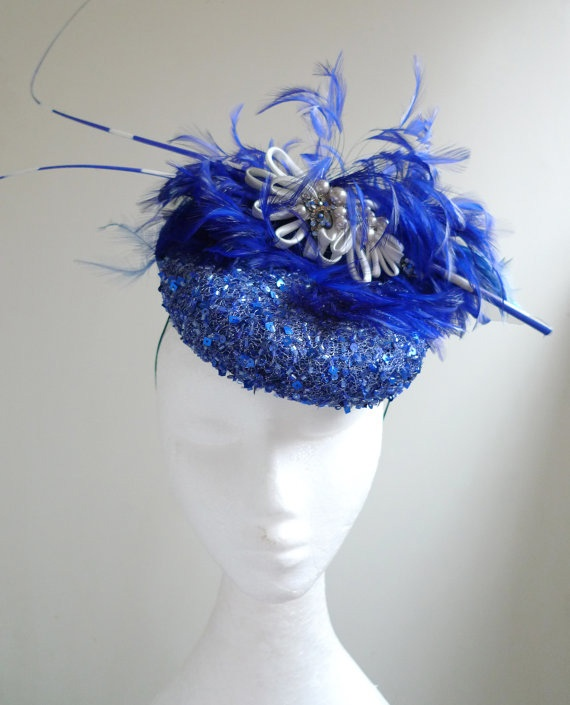 Natalilouise Hat - Make a statement with this royal blue masterpiece with sequin detail. #RacingStyle