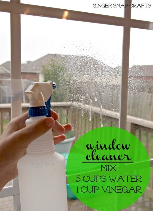 cleaning windows with vinegar and water