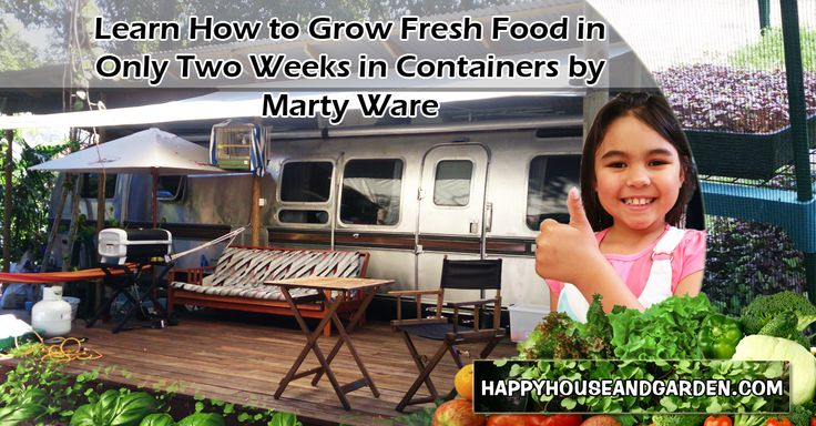 Learn How to Grow Fresh Food in Only Two Weeks in Containers by Marty Ware