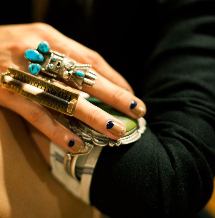 // well-adorned hands