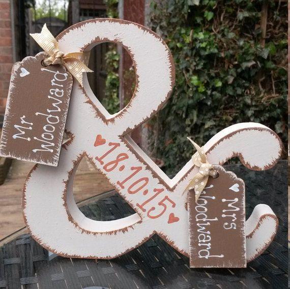 Mr & Mrs sign, Freestanding letter, Personalised wedding keepsake, bride and…