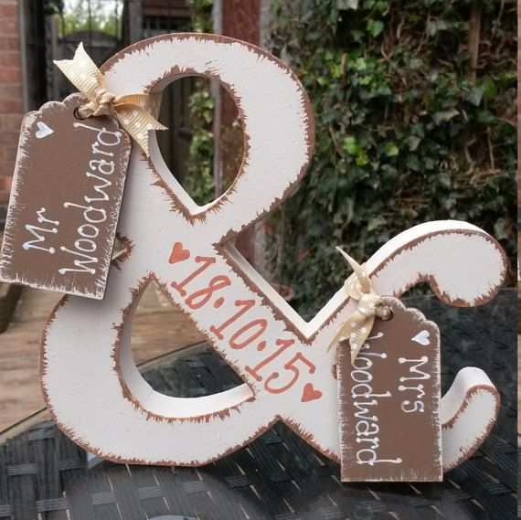 Mr & Mrs sign, Freestanding letter, Personalised wedding keepsake, bride and…