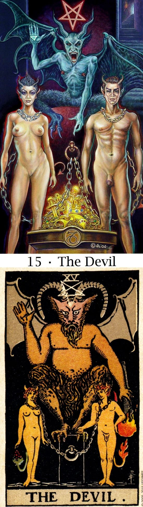 THE DEVIL: destructive patterns and release (reverse). Sacredisle Tarot deck and RiderCentenial Tarot deck: one card tarot reading, free tarot reading ask a question and original tarot cards.