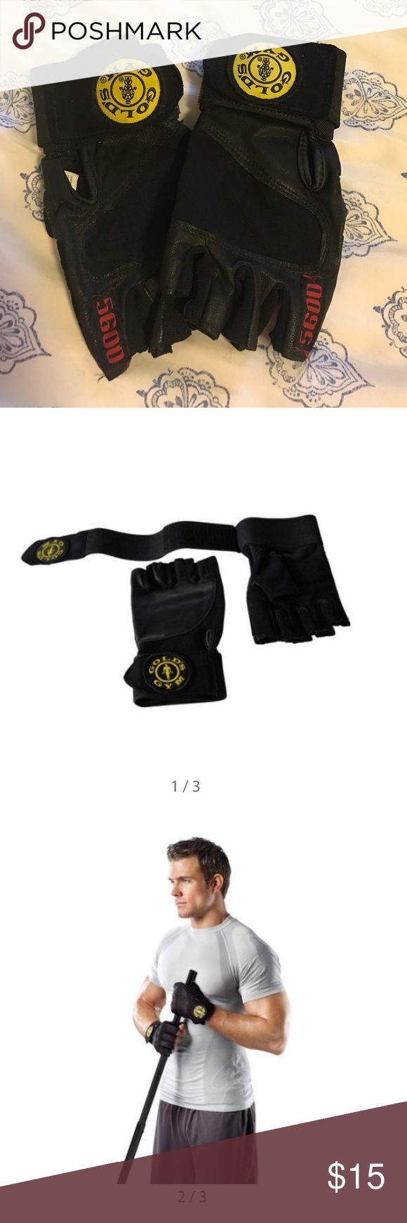 Gold's Gym Wrist Wrap Gloves Have been worn but in excellent condition! Offers welcome🌟 Gold's Gym Accessories Gloves