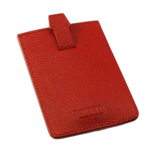 Men's Ferrari GT Leather Business Card Holder #ferrari #ferraristore #leather #business #cardholder #leather #calfskin #man #him #springsummer2014 #ss2014 #prancinghorse #cavallinorampante #rossoferrari #redmaranello #madeinitaly #luxury #exclusive