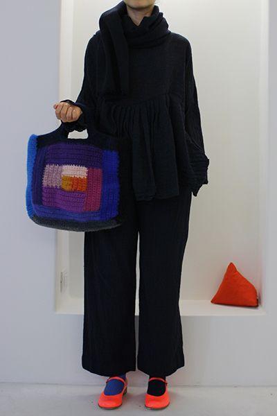 Daniela Gregis washed square crochet bag
