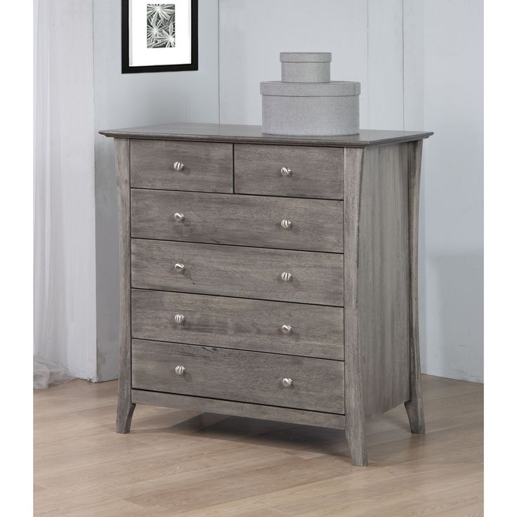 Vermont Stone Dirty White Burn 6 Drawer Chest By I Love
