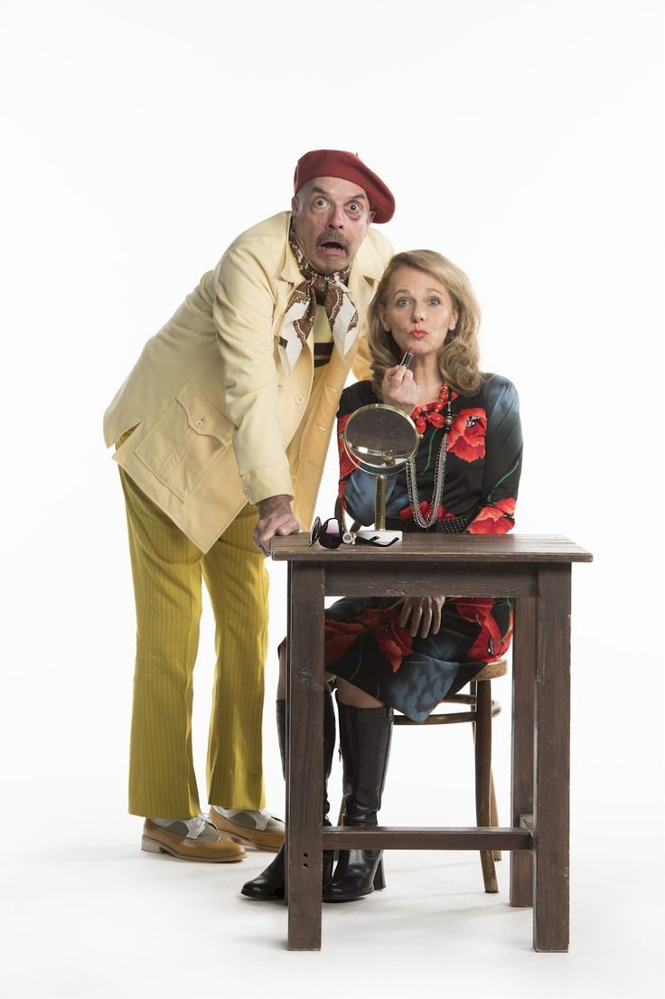 Jitters, a comedy that celebrates the ups and downs of theatre life, starts Jan 25 utnil Feb 25th at the Stanley Industrial Alliance Stage.    James Fagan Tait and Megan Leitch. Photo by David Cooper    #Vancouverevents