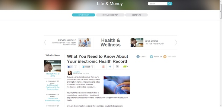What You Need to Know About Your Electronic Health Record / Mar 29 '13