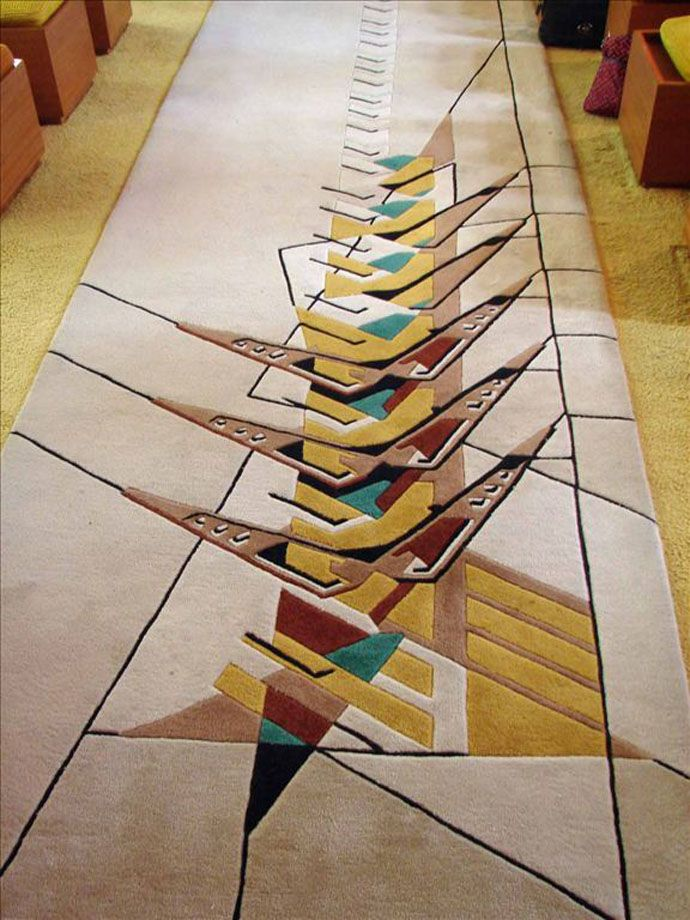 1119 best tapis area rug images on pinterest rugs contemporary rugs and modern area rugs - Frank lloyd wright area rugs ...