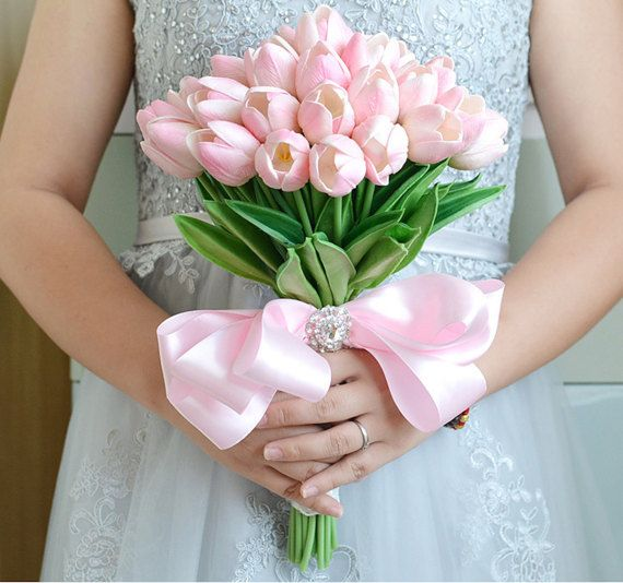 Stunning Bridal Wedding Bouquet Tulips. See it at.