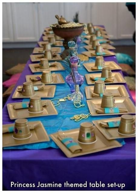 "Photo 3 of 37: Disney Princess Party / Birthday ""Princess Jasmine's Shining, Shimmering Splendid Party for Kryster"" 
