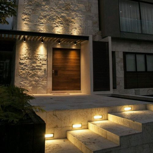 Elegante trabajo de iluminaci n lamparas bidireccionales for Luces patio exterior