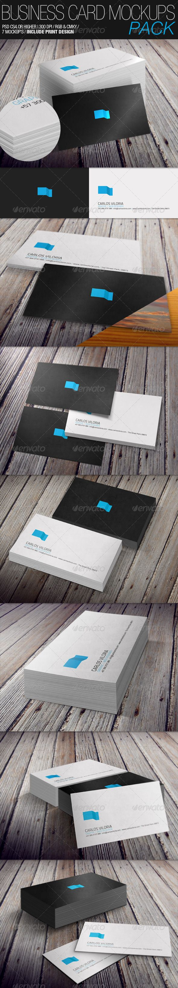 718 best business card mockup images on pinterest miniatures business card mockups pack reheart Image collections