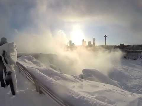 Bundle up and explore Niagara Falls USA. With sub-zero temperatures, snow and ice accumulation has turned Niagara Falls State Park into a winter wonderland.