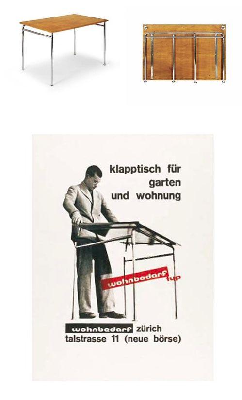 Good Werner M Moser folding table Klapptisch f r Garten und Wohnung